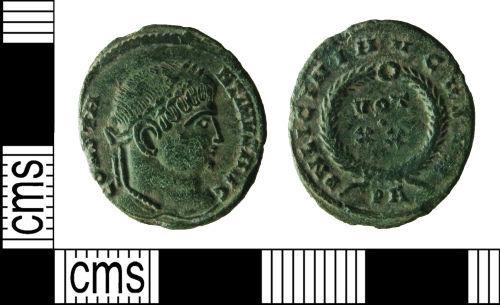 HAMP-C14078: Roman Coin : Contemporary Copy of Nummus of Constantine and Licinius (hybrid)