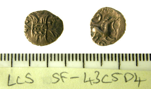 SF-43C5D4: Iron Age Gold Quarter Stater.