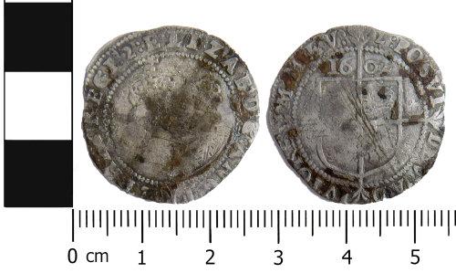 LVPL-46E33E: Post Medieval: Sixpence of Elizabeth I
