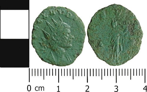 LVPL-667E13: Roman coin: Radiate of Claudius II
