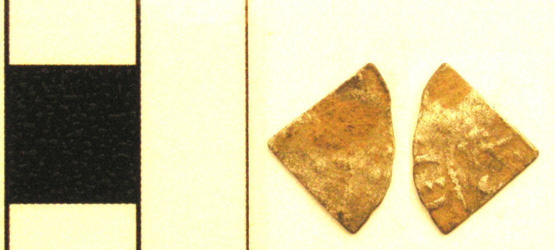 YORYM-CCF9B3: YORYM-CCF9B3 Medieval coin: cut farthing, probably of French ruler