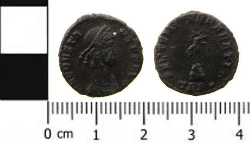 SWYOR-8FF988: Roman Coin: Nummus of the House of Constantine
