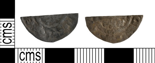 YORYM-7237C5: Medieval Coin : Cut halfpenny of Henry II to Henry III