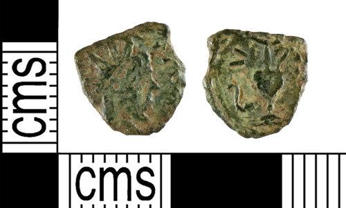 YORYM-D7E0BC: Roman Coin : Barbarous Radiate copying an uncertain emperor