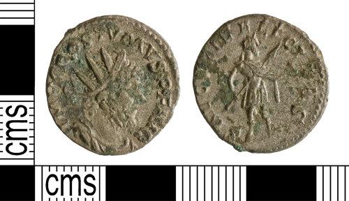 YORYM-DD69A6: Roman Coin : Radiate of Postumus
