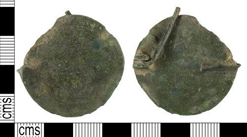 YORYM-E60C83: Early-Medieval : Disc Brooch