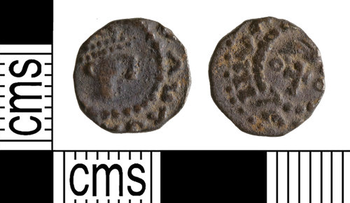 YORYM-4C6EE1: Early-Medieval Coin : Sceat of an anonymous ruler