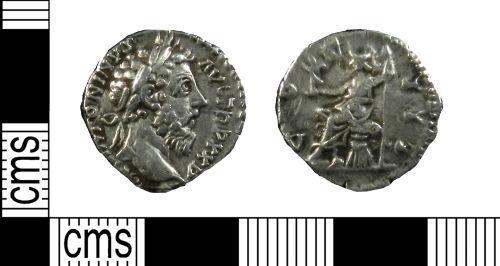 YORYM-E98F81: Roman Coin : Denarius of Marcus Aurelius