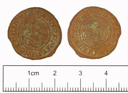 YORYM-A77575: Post-medieval : Jetton of Hanns Krauwinkel II