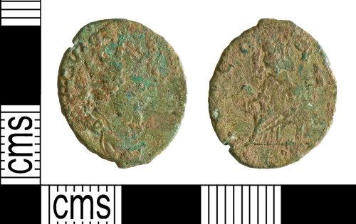 YORYM-2E12FB: Roman Coin : Barbarous radiate copying Tetricus I
