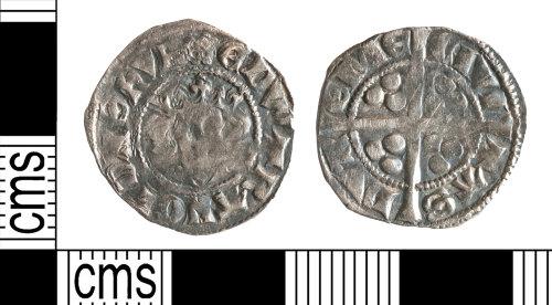YORYM-D6F443: Medieval Coin : Penny of Edward II