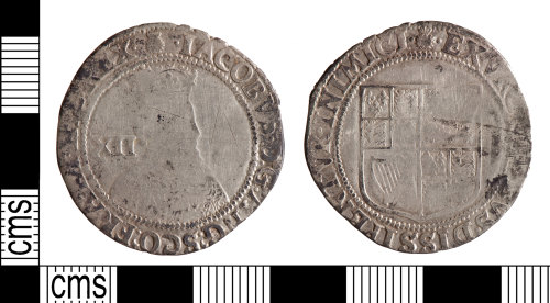 YORYM-930F2A: Post-Medieval Coin : Shilling of James I
