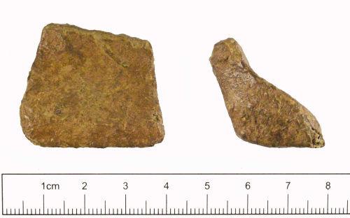 YORYM-E76D64: Medieval to post-medieval : Vessel Leg