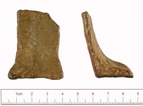 YORYM-E78536: Medieval to post-medieval : Vessel Leg