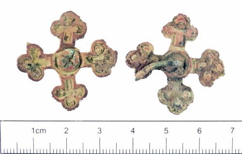 YORYM-00FAC3: Post-medieval to modern : Cruciform mount