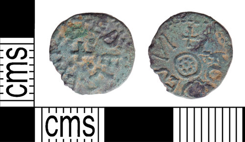 YORYM-8F71AA: Early-Medieval Coin : Northumbrian Styca of Aethelred II