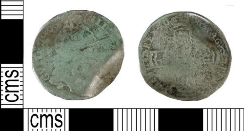 YORYM-062492: Post-medieval Coin : Sixpence of William III