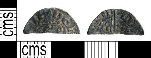 YORYM-91DE28: Medieval Coin : Cut halfpenny of Henry III