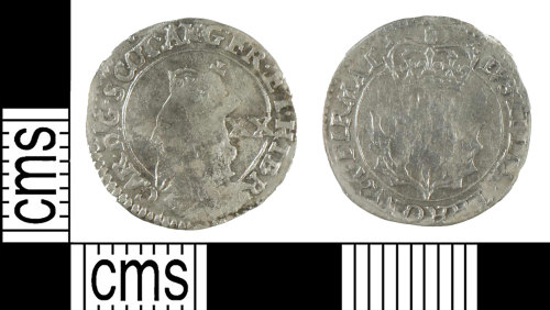 YORYM-B18BA2: Post-medieval Coin : Scottish twenty pence of Charles I