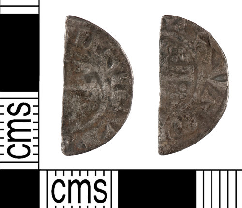 YORYM-392277: Medieval Coin : Cut halfpenny of John