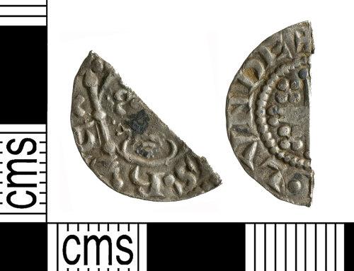 YORYM-0D8DFA: Medieval Coin : Cut halfpenny of John