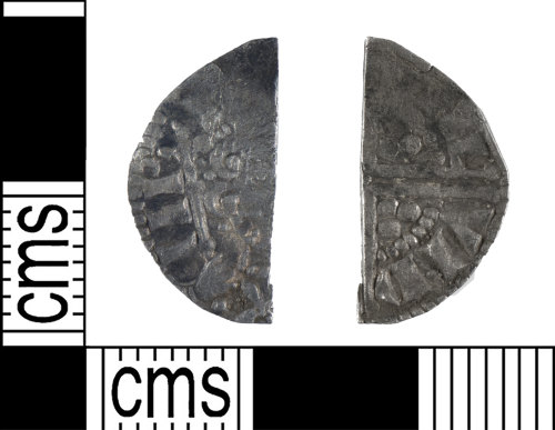 YORYM-5C74A9: Medieval Coin : Cut halfpenny of Henry III