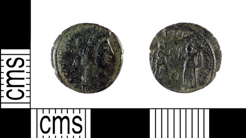 A resized image of Roman Coin : Nummus of Constans