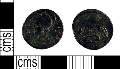 YORYM-311323: Roman Coin : Commemorative nummus of the House of Constantine