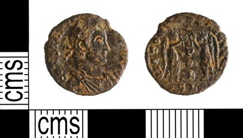 YORYM-73470F: Roman Coin : Nummus of Constantius II