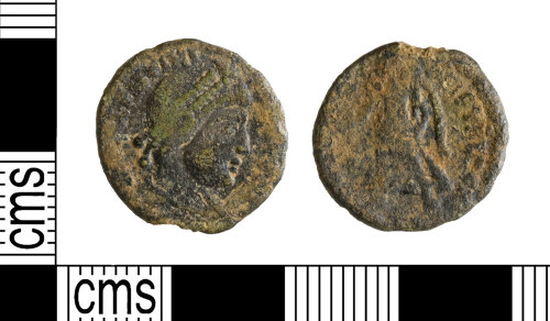 YORYM-AFC978: Roman Coin : Nummus of the House of Valentinian