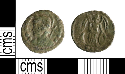 YORYM-F20CF2: Roman Coin : Commemorative nummus of the House of Constantine