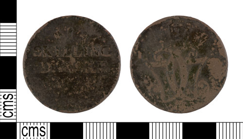 YORYM-076830: Post-Medieval : Skilling Danske of Christian VII of Denmark