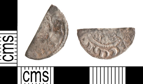 YORYM-5F1AAD: Medieval Coin : Cut halfpenny of Henry III