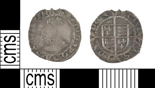 YORYM-5E2322: Post-Medieval Coin : Penny of Elizabeth I