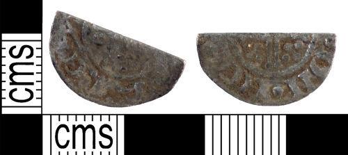 YORYM-E50E28: Medieval Coin : Cut halfpenny of John