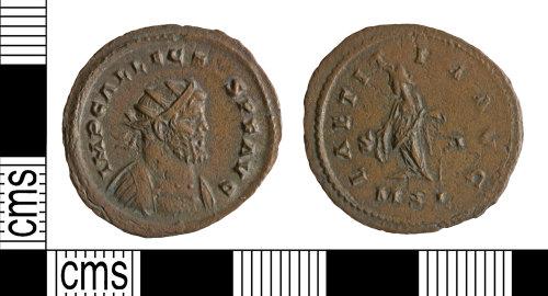 YORYM-7BB079: Roman Coin : Radiate of Allectus