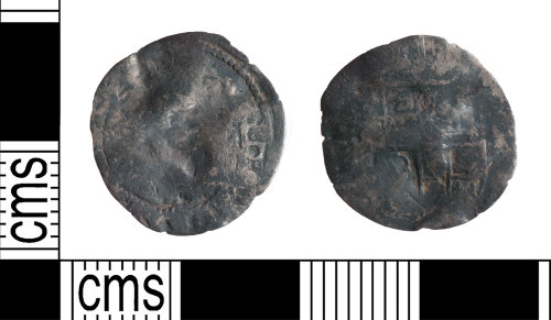 YORYM-95A07A: Post-Medieval Coin : Halfgroat of James I or Charles I