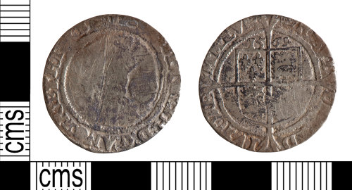 YORYM-957625: Post-Medieval Coin : Sixpence of Elizabeth I