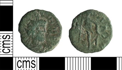 A resized image of Roman Coin : Barbarous radite copying uncertain emperor