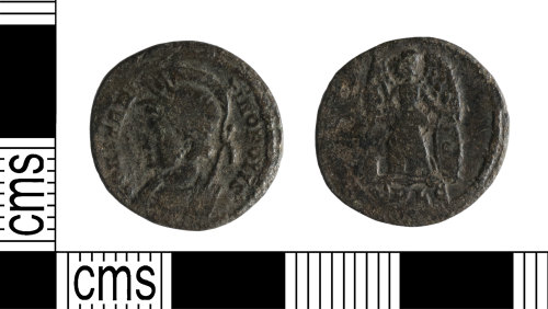 A resized image of Roman Coin : Commemorative nummus of the House of Constantine