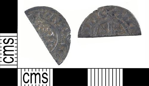 YORYM-577B9B: Medieval Coin : Cut halfpenny of Henry III