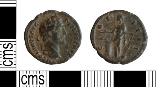 YORYM-382C23: Roman Coin : Denarius of Antoninus Pius