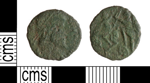 YORYM-F459F6: Roman Coin : Nummus of the House of Constantine