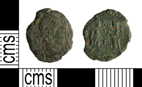 YORYM-F09AE4: Roman Coin : Nummus of the House of Constantine