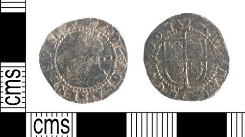 YORYM-EBE27D: Post-Medieval Coin : Halfgroat of Elizabeth I