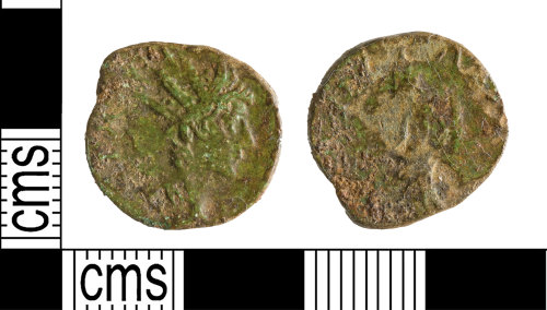 A resized image of Roman Coin : Radiate of Tetricus II