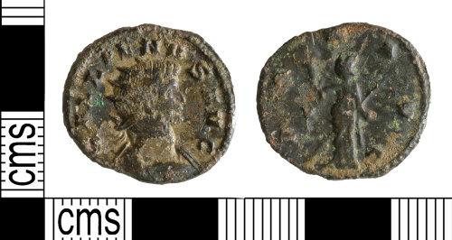 YORYM-5D32CB: Roman Coin : Radiate of Gallienus