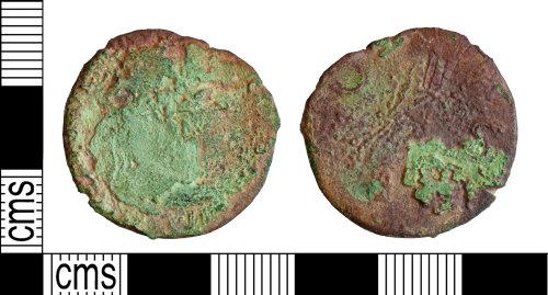 YORYM-69E022: Roman Coin : Dupondius or as of an uncertain ruler