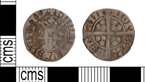 YORYM-6A3C56: Medieval Coin : Continental sterling imitation penny of Valeran de Ligny