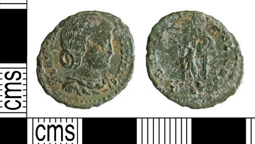 YORYM-AF743A: Roman Coin : Nummus of Fausta